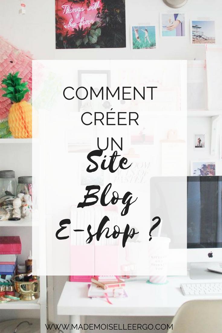 business tips comment cr er un site blog e shop mademoiselle ergo. Black Bedroom Furniture Sets. Home Design Ideas